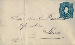 1892 , ECUADOR , SOBRE ENTERO POSTAL DE 10 CENTAVOS - Ecuador