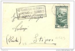 ITALIA - 1952 MILANO VII Convegno Metano E Petrolio Taormina - Annullo A Targhetta Su Lettera Viaggiata - Protezione Dell'Ambiente & Clima