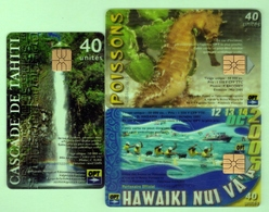 POLYNESIE *** LOT DE 3 TELECARTES TRANSPARENTES Differentes *** - Polynésie Française