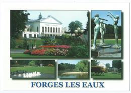 """FORGES LES EAUX (76) -Multivues (Grand Casino, Statue """"Les Trois Grâces"""", Lac De L'Andelle, Echiquier) -Scan Recto-Verso - Forges Les Eaux"""