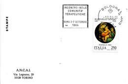 ITALIA - 1984 BOLOGNA Incontro Internazionale Comunità Terapeutiche - Annullo A Targhetta - Droga