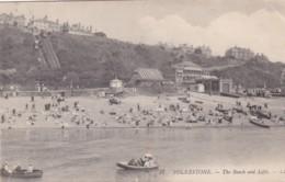 FOLKESTONE - THE BEACH AND LIFTS. LL 37 - Folkestone