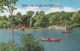 Illinois Peoria Lagoon In Glen Oak Park 1951 - Peoria