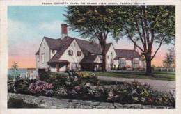Illinois Peoria Country Club On Grand View Drive 1940 - Peoria