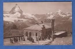 CPA - ZERMATT - Gare Du Gornergrat Et Le Cervin - Train Chemin De Fer Suisse Montagne Bahn Eisenbahn - Gares - Avec Trains