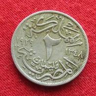 Egypt 2 Milliemes 1348  1929  Egipto Egypte Egito Egitto Ägypten L5-6 - Egipto