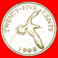 # BIRD (1986-1998): BERMUDA ★ 25 CENTS 1988! LOW START ★ NO RESERVE! - Bermudes