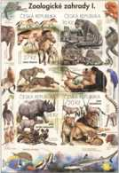 2016 Czech - Zoos Of Czech Republic I - Lions, Gepards, Horses, Rhino, Apes, Parrots, Gazelle - MNH** Mi B 61 - Tschechische Republik