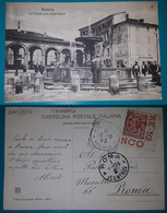 Cartolina Matelica (Macerata) - La Fontana Nella Piazza Valerio. Viaggiata 1908 - Macerata