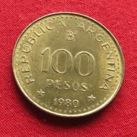 Argentina 100 Pesos 1980 KM# 85a Magnetic  Argentine Argentinie - Argentine