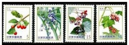 Taiwan 2014 Berries Stamps (IV) Berry Flora Fruit Plant Medicine Edible - 1945-... Republic Of China