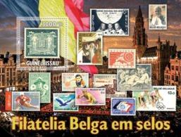 Guinea Bissau 2010 Belgium Stamps In Stamps - Guinea-Bissau