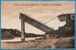 CPA AK Biélorussie BELARUS - GRODNO - Gesprängte Bahnbrücke  Wysadzony Most Kolejowy - Belarus