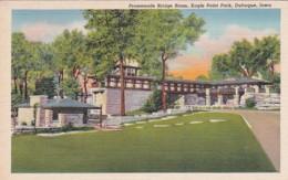 Iowa Dubuque Eagle Point Park Promenade Bridge Room Curteich - Dubuque
