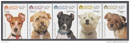 AUSTRALIA, 2010 DOGS STRIP 5 MNH - 2010-... Elizabeth II
