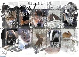 Netherlands 2019 Animals 10v M/s S-a, (Mint NH), Animals (others & Mixed) - Cats - Sea Mammals - Bats - Rabbi.. - Period 2013-... (Willem-Alexander)