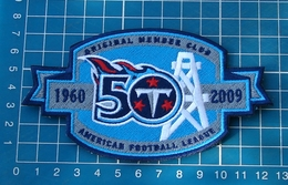 TENNESSEE TITANS 50th ANNIVERSARY MEMBER PATCH JERSEY FOOTBALL NFL EMBROIDERED - Tennessee Titans