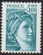 France Sabine De Gandon N° 2123 **  Le 5.00 Fr. Bleu - 1977-81 Sabine Of Gandon