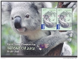 AUSTRALIA, 2012 INDONESIA/KOALA MINISHEET MNH - 2010-... Elizabeth II
