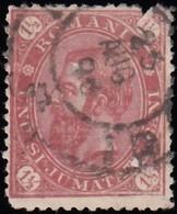 ROMANIA - Scott #94 King Carol I 'Damaged' / Used Stamp - 1881-1918: Charles I