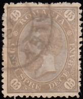 ROMANIA - Scott #98 King Carol I / Used Stamp - 1881-1918: Charles I