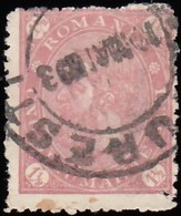 ROMANIA - Scott #101 King Carol I (1) / Used Stamp - 1881-1918: Charles I