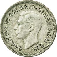 Monnaie, Australie, George VI, Sixpence, 1951, Melbourne, TB, Argent, KM:45 - Monnaie Pré-décimale (1910-1965)