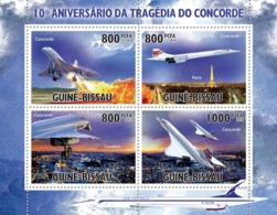Guinea Bissau 2010 10th Anniversary Concorde Tragedy. - Guinea-Bissau