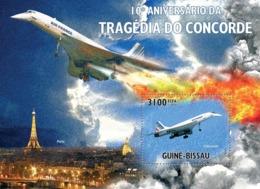Guinea Bissau 2010 10th Anniversary Concorde Tragedy - Guinea-Bissau