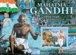 Guinea Bissau 2010 Mahatma Gandhi ( 1869 – 1948 ), Flag - Guinea-Bissau