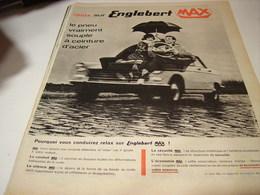 ANCIENNE PUBLICITE PNEUS MAX ENGLEBERT  1961 - Transport