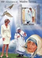 Guinea Bissau 2010 Mother Teresa & Diana - Guinea-Bissau