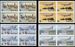 NAURU 1980 Airplanes IMPERF.4-BLOCKS:4 - Nauru