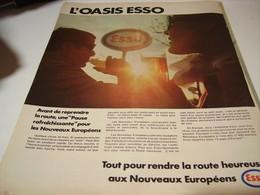 ANCIENNE PUBLICITE OASIS ESSO  1969 - Transport