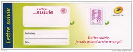 TRES RARE VARIETE De VIGNETTE  En LETTRE SUIVIE  SANS  NUMERO Ni  CODE BARRE   <   - ANOMALIE  ABSENCE - Variétés: 2010-.. Lettres & Documents