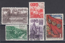 USSR 1948 - 30 Jahre Komsomol, Mi-Nr. 1280/85 (fehlt 1282), Used - 1923-1991 URSS