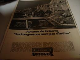 ANCIENNE AFFICHE PUBLICITE AUTO RADIO DE AUTOVOX   1967 - Transport