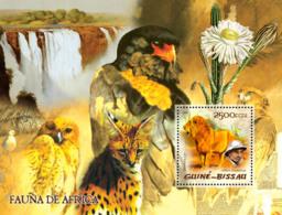 Guinea Bissau 2005  Fauna Of Africa (wild Cats), Lions  Birds Of Prey   A. Schweitzer - Guinea-Bissau