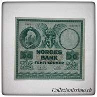 50 Femti Kroner Norges Bank - Billets