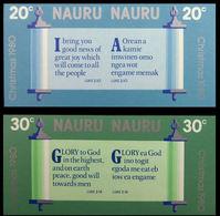 NAURU 1980 Christmas Bible Religion IMPERF.SE-TENANT PAIR:2 (4 Stamps) - Nauru