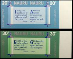 NAURU 1980 Christmas Bible Religion IMPERF.SE-TENANT MARG.PAIR:2 (4 Stamps) - Nauru
