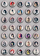 35 X Amy Winehouse Music Fan ART BADGE BUTTON PIN SET 1 (1inch/25mm Diameter) - Music