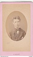 PHOTO CDV 19 EME JEUNE GARCON CHIC  MODE  Cabinet DURAND  A LAVAL MAYENNE - Anciennes (Av. 1900)
