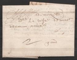 L.datée 30 Juin 1639 De ANTWERPEN Pour GAND - 1621-1713 (Spanish Netherlands)