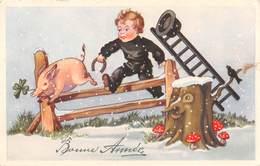 Bonne Année - Cochon - Ramoneur - Echelle - Champignons - Fer à Cheval - Nouvel An