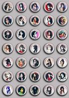 35 X Amy Winehouse Music Fan ART BADGE BUTTON PIN SET 2 (1inch/25mm Diameter) - Music
