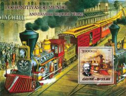 Guinea Bissau 2005 Trains (steam Trains) & Anniversary Jules Verne - Guinea-Bissau