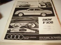 ANCIENNE  PUBLICITE DKW F 102 VOITURE AUDI  1969 - Automobili