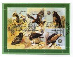 GUINEA BISSAU - 2001 - Foglietto Tematica  Animali - Uccelli (Rapaci) - 6 Valori - Con Doppio Annullo - (FDC13567) - Guinea-Bissau