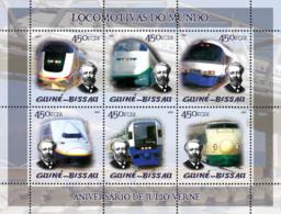 Guinea Bissau 2005 Trains (Japanese Trains) & Anniversary Jules Verne - Guinea-Bissau